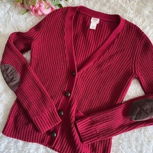 Mossimo Red Button Cardigan